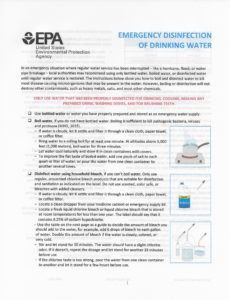 Cover photo for Emergency Disinfection of Drinking Water
