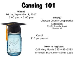 Cover photo for Canning 101