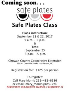 Cover photo for Safe Plates Training Coming Soon!