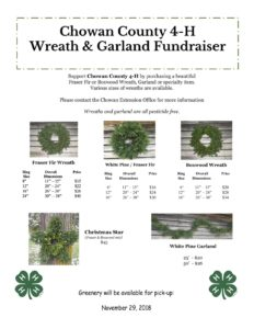 Wreath and Garland Fundraiser flyer image