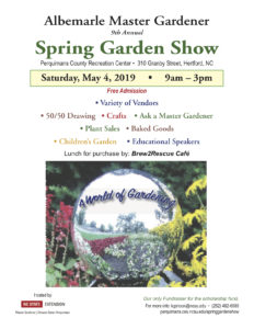 Cover photo for Albemarle Master Gardener Volunteers Hold Spring Garden Show