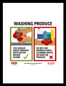 Washing Produce poster